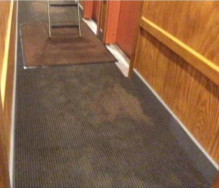 water on carpet from firefighters
