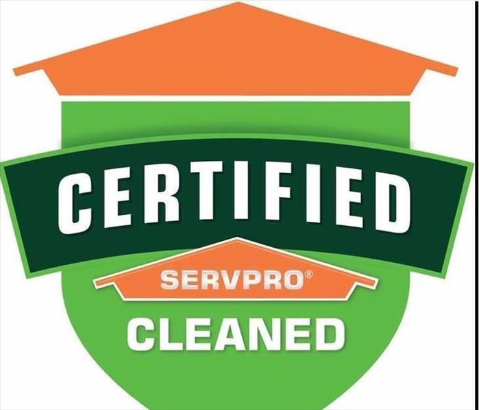 SERVPRO Cleaned program decal